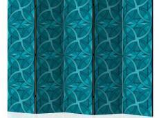 Paraván - Geometric Turquoise II [Room Dividers]